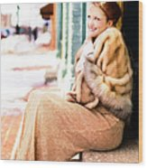 Vintage Val Winter Glam Wood Print