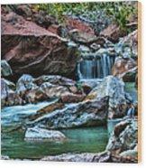 Virgin River Zion  Wood Print