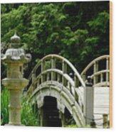 Virginia Bridges -japanese Garden Wood Print