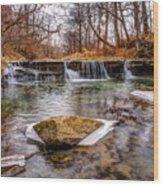 Walnut Creek Waterfall Wood Print