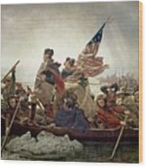 Washington Crossing The Delaware River Wood Print