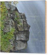 Waterfall Detail Wood Print
