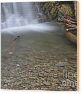 Waterfall, Quebec Wood Print