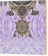 Wave And Jewels Wood Print