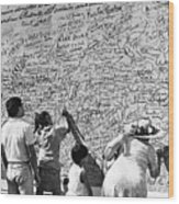 We The People Signing Bicentennial Of The Constitution Tucson Arizona 1987 Wood Print