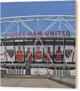 West Ham Fc Stadium London Wood Print