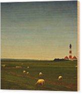 Westerhever Lighthouse Wood Print