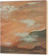 Western Sky Wood Print by Gregory Dallum