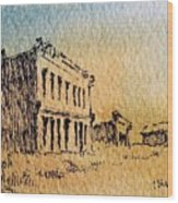 White Oaks Ghost Town New Mexico Wood Print