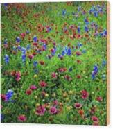 Wildflowers In Bloom Wood Print