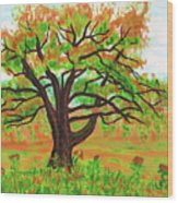 Willow Tree, Painting Wood Print