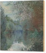 Willows At The Edge Of The Yerres Wood Print