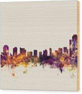 Wilmington Delaware Skyline Wood Print