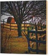Winding Fence Wood Print
