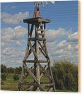 Windmill-5747b Wood Print