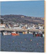 Winter Harbour - Lyme Regis Wood Print