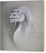 Wise Dragon Wood Print