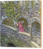 Woman Tourist In Sintra Wood Print