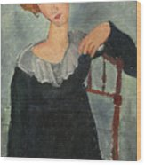 Woman With Red Hair Wood Print
