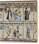 Womens Rights Wood Print