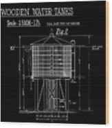 Wooden Water Tanks Wood Print