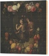 Wreath With Value And Abundance Wood Print