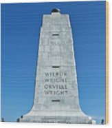 Wright Brothers Memorial Wood Print