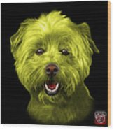 Yellow West Highland Terrier Mix - 8674 - Bb Wood Print
