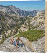 Yosemite National Park Hiking Wood Print