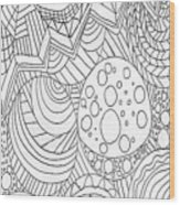 Zendoodle Design Wood Print