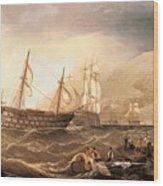 Miller Charles Henry Shipping Off Gibraltar Charles Henry Miller Wood Print