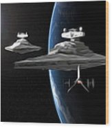 Star Wars The Trilogy Art Wood Print