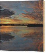 20- Sunset At Burnt Bridge Wood Print