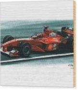 2000 Ferrari F1-2000 Wood Print
