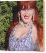 20000 Dollar Dress Of Sofia Metal Queen Wood Print