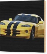 2001 Dodge Viper 'methenol Injected'  Wood Print