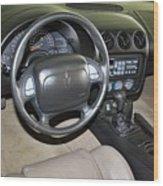 2002 Pontiac Trans Am Dashboard Wood Print