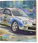 2002 Slovnaft Valasska Rally Toyota Celica Gt Four Liska Jugas  Wood Print