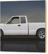 2003 Chevrolet S-10 Extended Cab Pickup Truck - Profile Wood Print