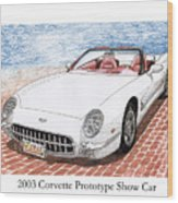 2003 Corvette Prototype Wood Print