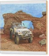 2005 Jeep Rubicon 4 Wheeler Wood Print