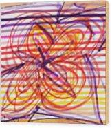 2007 Abstract Drawing 2 Wood Print