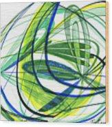 2007 Abstract Drawing 4 Wood Print