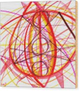 2007 Abstract Drawing 6 Wood Print
