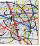 2007 Abstract Drawing 7 Wood Print