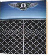 2007 Bentley Continental Gtc Convertible Hood Ornament Wood Print