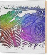2007 Harley C 01 Cool Rainbow 3 Dimensional Wood Print