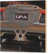 2007 Lexus Lf-a Exotic Sports Car Concept No 3 Wood Print