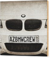 2008 Bmw Grille Emblem -1136s Wood Print