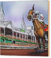 2008 Kentucky Derby Winner Big Brown Wood Print